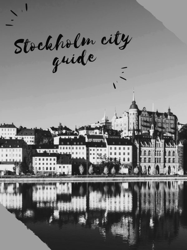 Stockholm city guide translation cover