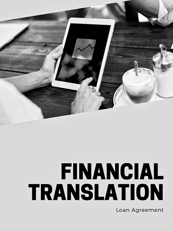 loan agreement translation cover